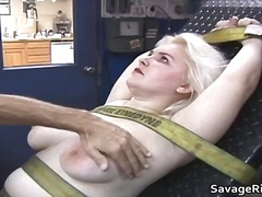 fetish, blonde, spanking, bondage