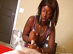 Thumb: Interracial handjob in...