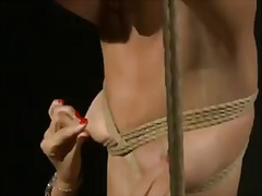 Blonde chary gets bondaged by horny black haired mistress mandy bright and tortured sweet