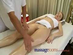 Massage rooms incredible young woman serviced then creampie