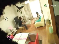 Hot asian babe in publ... video