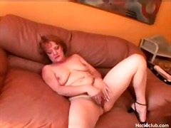 hairy, dildo, milf, mature, toy,