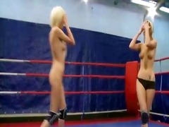 Sexy blondes wrestling preview