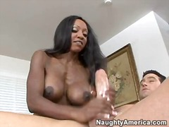 big, milf, ebony, tits, natural
