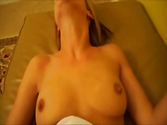 Hot girlfriend sucks and rides cock