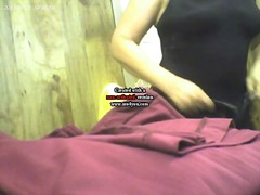 Indian plumb aunty undressing to take shower