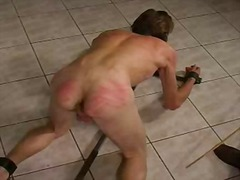 Horny guy spanks ...