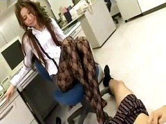 Sun Porno Movie:Office lady in panthose gettin...