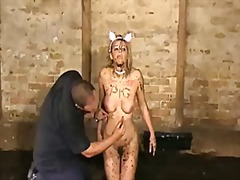 Humiliated slut emma louise crawling in the mud