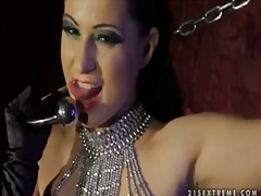 Pornoid Movie:Slutty chained tera bond playi...