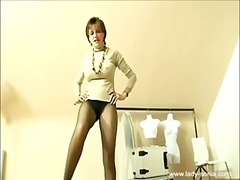 heels, pantyhose, british, mature,