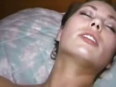 Cute young wife plays with... - 05:44