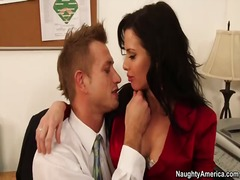 Big tit office girl veronica avluv gets pussy licked and fucked by boss