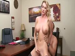 blonde, mom, spanking, anal, lick,