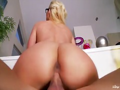 Pornoid Movie:Busty blonde in glasses phoeni...