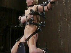 Yobt Movie:Katie kox has her chest presse...