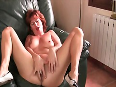 Mature and redheaded m...