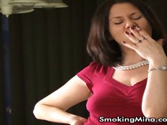 Sexy smoker milf talks whi... - 05:25