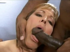 mature, ebony, blonde, interracial