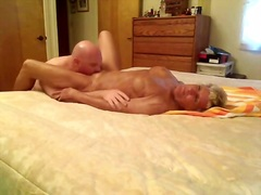 Granny cums on his fac... video