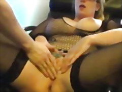 Blond milf fist fucked in her insatia...