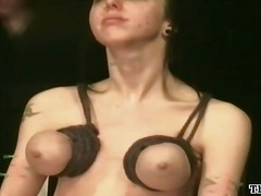 Brutal tit hanging bds... video