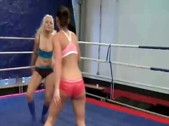 Naughty busty girls fighting