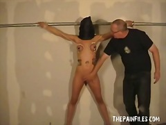 kinky, fingering, big boobs, spanking, clamps, pain, bdsm, tits, fetish, bondage, hood, domination, tied, mask, whip