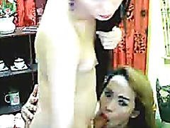 Thumb: Asian Tranny Couple Ha...