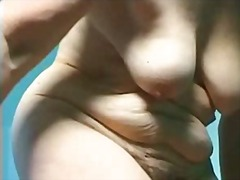 Sun Porno Movie:Granny dildoing her hairy twat
