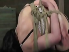 fetish, tied, brunette, flogging