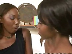 seduced, mom, young, lesbian, ebony,