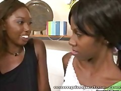 Thumb: Ebony mom seduces young