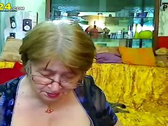 amateur, webcam, granny