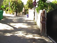 Redtube Movie:Sexy blonde naked on the streets