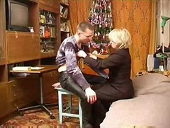 Russian mature mom wit...