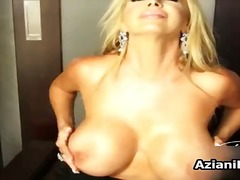 Busty blonde slut gets...