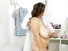 milf, speculum, fingering, big boobs, pussy, check, mom, cervix, mature, tits