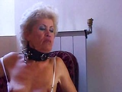 spanking, granny, natural, fishnet,
