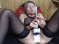 dildo, solo, objects, blonde, wife