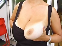 boobs, posing, blonde, milf,