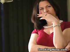 kinky, smoking, fetish, solo, mom,