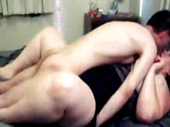 Massive large agreeable woman drilled hard by skinny fellow