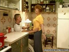 Kitchen gilf fucking