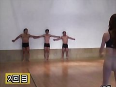 Redtube Movie:Guys line up while babes play