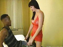 Milf interracial handjob video