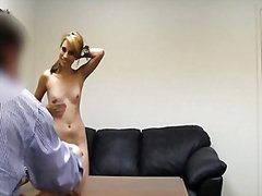 Backroom casting couch...