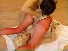 Cute blonde pussy filled with milk an...