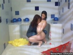 Tube8 Movie:Latex lezdom games in a shower