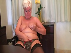 masturbation, orgasm, strip, stockings, chubby, piercing, vibrator, mature, toy, milf, british, shaved, toys